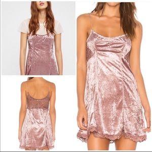 Free People Intimately Cheeky Lace Slip Dress SZ M
